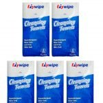 EZYWIPE 8ct CLEANSING TOWELS – 5 PACK KIT!